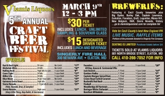 5th Annual Craft Beer Festival
