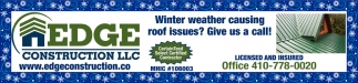 Winter Weather Causing Roof Issues?