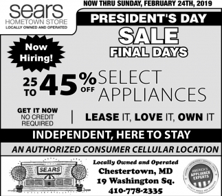 President's Day Sale Final Days