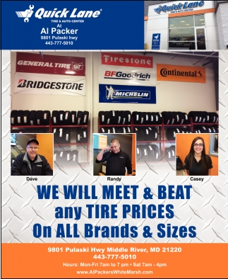 We Will Meet & Beat any Tire Prices