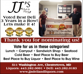 Voted Best Deli