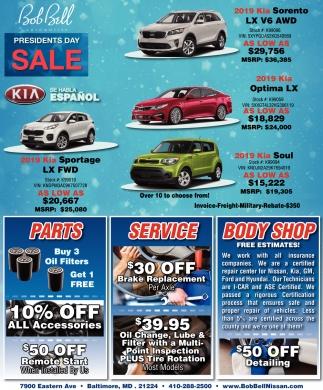 Bob Bell Kia >> Presidents Day Sale Bob Bell Nissan Kia Baltimore Md