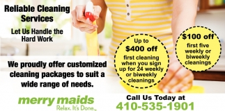 $100 Reliable Cleaning Services