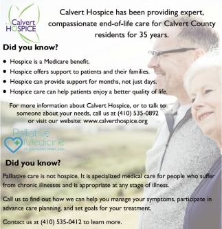 Hospice is a Medicare Benefit