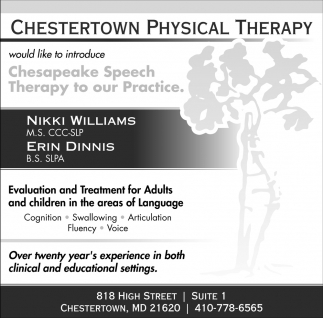 Chesapeake Speech Therapy to Our Practice