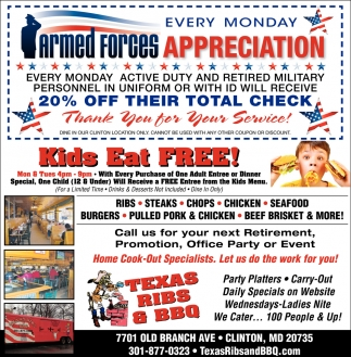 Armed Forces Appreciation