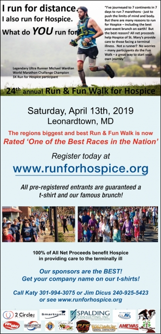 I also run for Hospice
