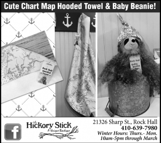 Cute Chart Map Hooded Towel & Baby Beanie!