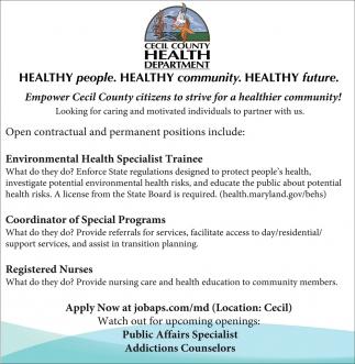 Healthy People. Healthy Community. Healthy Future.