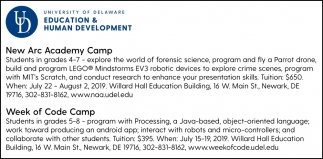 New Arc Academy Camp, Week of Code Camp