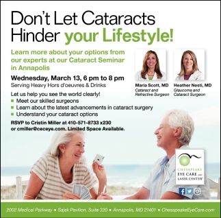 Don't Let Cataracts Hinder Your Lifestyle