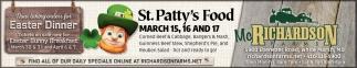 St. Patty's Food