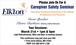 Caregiver Safety Seminar