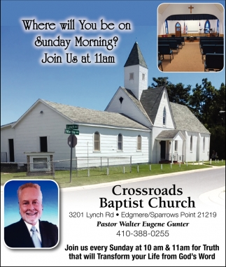 Where Will You be On Sunday Morning?
