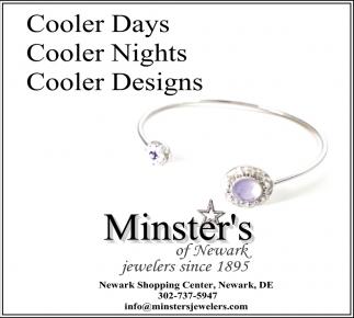Cooler Days, Cooler Nights, Cooler Designs.