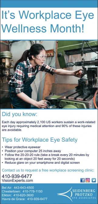 It's Workplace Eye Wellness Month