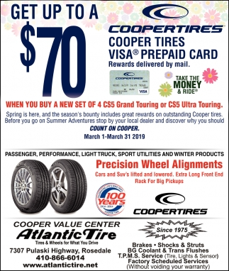 Get up to a $70 Coopertires