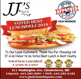 Voted Best Lunch/Deli 2019