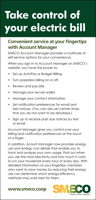 Take Control of Your Electric Bill