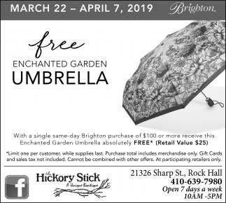 Free Enchante Garden Umbrella