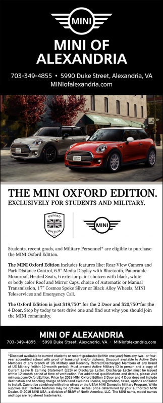 The MINI Oxford Edition