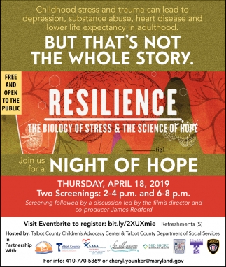 Night of Hope, A Night of Hope: Building Resilency, Easton, MD