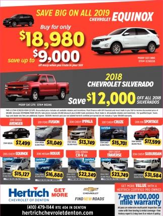 Save Big on All 2019 Chevrolet Equinox