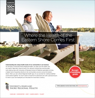 Where the Health of the Eastern Shore Comes First