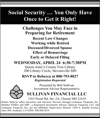 Social Security... You Only Have Once to GEt in Right!