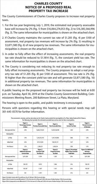 Notice of a Proposed Real Property Tax Increase