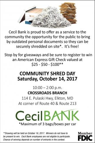 Community Shred Day