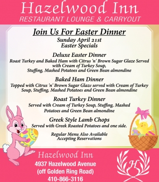 Join Us for Easter Dinner