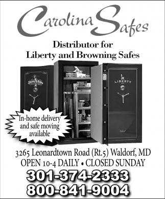 Distributor for Liberty And Browning Safes