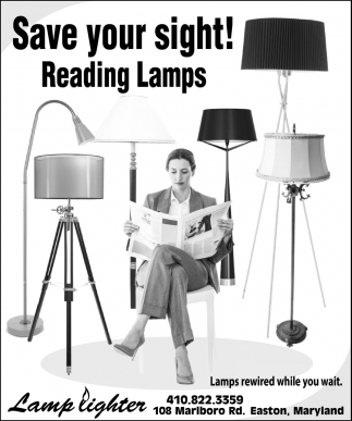 Save Your Sight! Reading Lamps