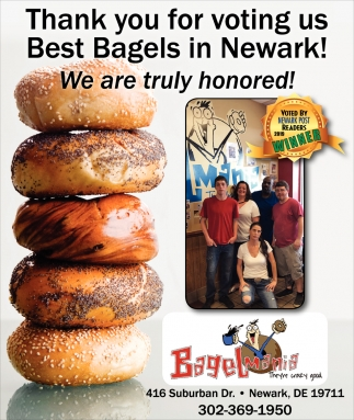 Thank You for Voting Us Best Bagels in Newark