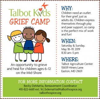 Talbot Kids Grief Camp