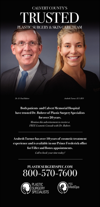 Calvert County's Trusted Plastic Surgery & Skin Care Team