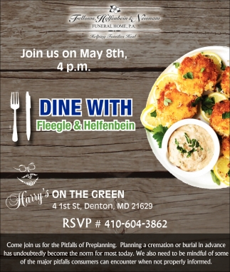 Dine with Fleegle & Helfenbein