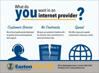 What do You want in a Internet Provider?