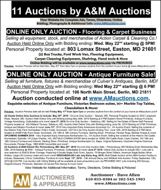 11 Auctions by A&M Auctions