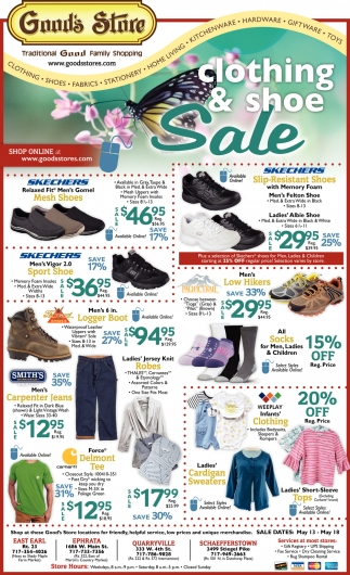 Clothing & Shoe Sale