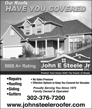 Our Roofs Have you Covered