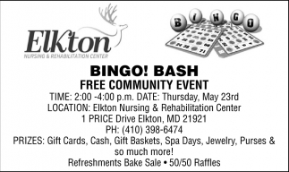 Bingo! Bash Free Community Event