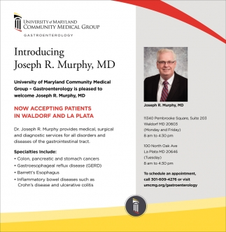 Introducing Joseph R. Murphy, MD