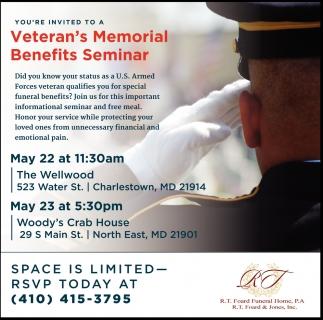 Veteran's Memorial Benefits Seminar
