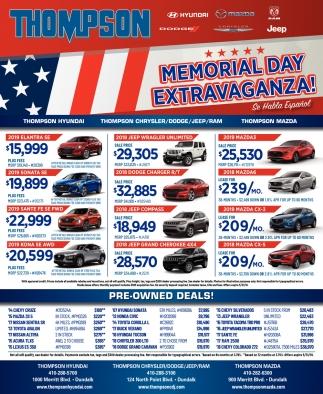 Memorial Day Extravaganza