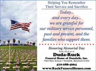 Helping You Remember Their Service and Sacrifice