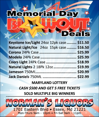 Memorial Day Blowout Deals