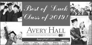 Best of Luck Class of 2019!