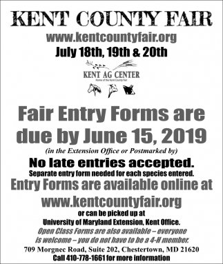 Fair Entry Forms are Due By June 15